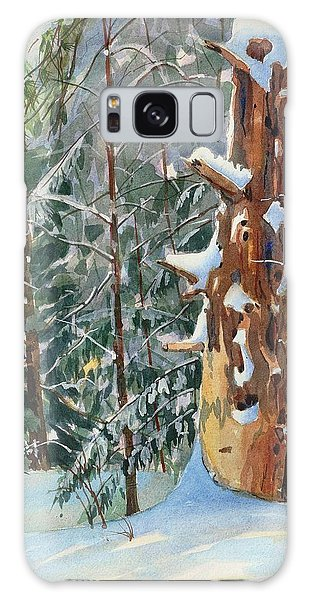 Galaxy Case featuring the painting Pine Sentinel by David Gilmore