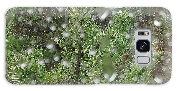 Pine Tree In The Rain Galaxy Case
