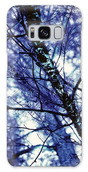 Pine Trees Redux In Blue Galaxy Case