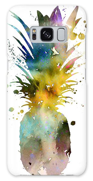 Pineapple 2 Galaxy Case by Watercolor Girl