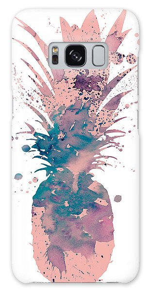 Pineapple 3 Galaxy Case by Watercolor Girl