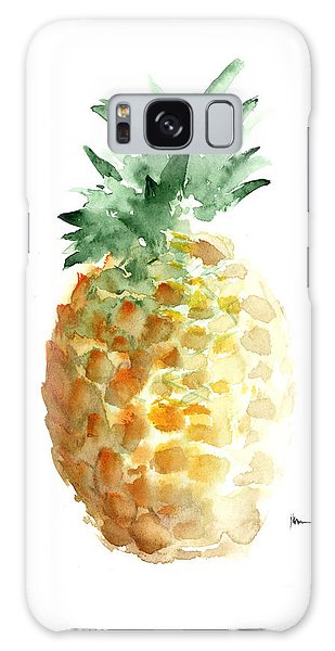 Pineapple Art Print Watercolor Painting Galaxy Case