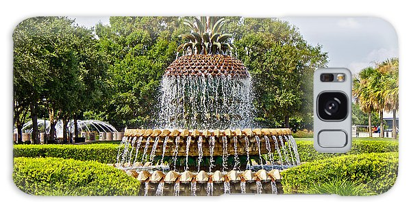Pineapple Fountain In Waterfront Park Galaxy Case by Jean Haynes