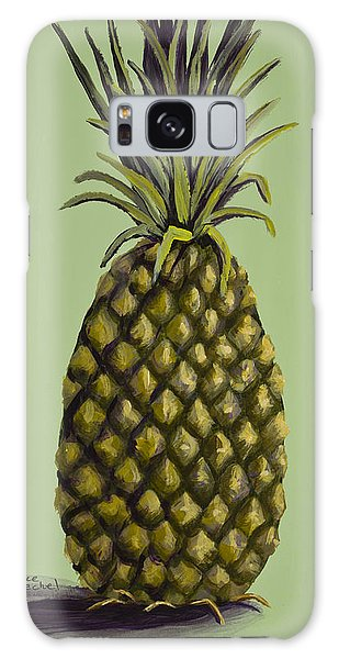 Pineapple On Green Galaxy Case