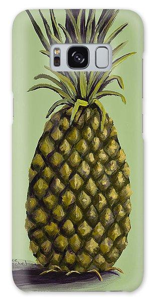Pineapple On Green Galaxy Case