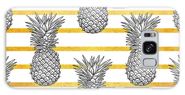 Hibiscus Galaxy Case - Pineapple Tropical Vector Seamless by Vavavka