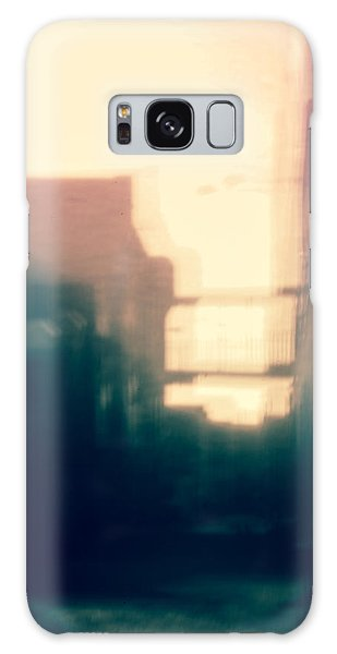 Pinholed Cityscape  Galaxy Case