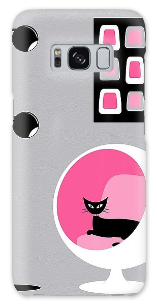 Pink 1 On Gray Galaxy Case