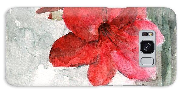 Amaryllis Galaxy Case - Pink Amaryllis by Claudia Hafner
