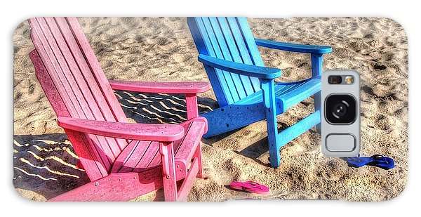 Pink And Blue Beach Chairs With Matching Flip Flops Galaxy Case