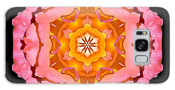 Pink And Orange Rose I Flower Mandala Galaxy Case