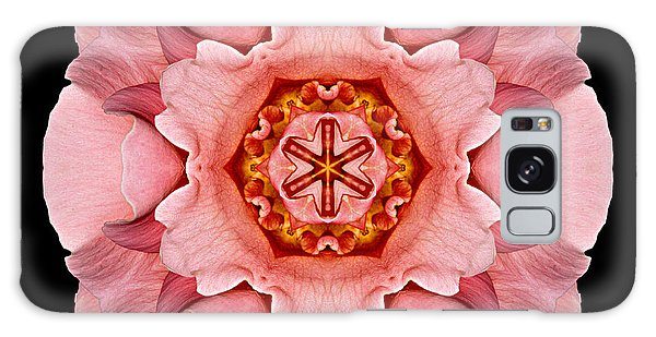 Pink And Orange Rose Iv Flower Mandala Galaxy Case