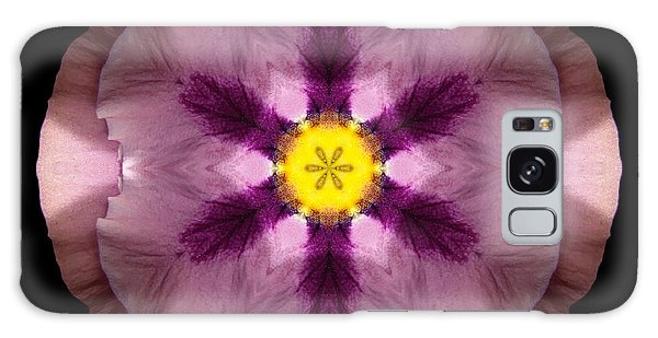 Pink And Purple Pansy Flower Mandala Galaxy Case