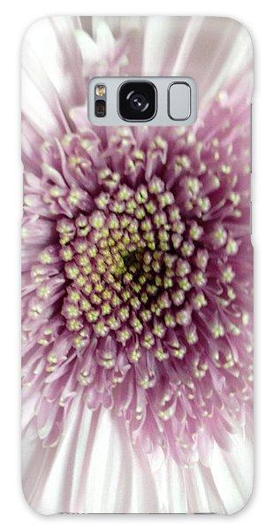 Pink And White Chrysanthemum Galaxy Case