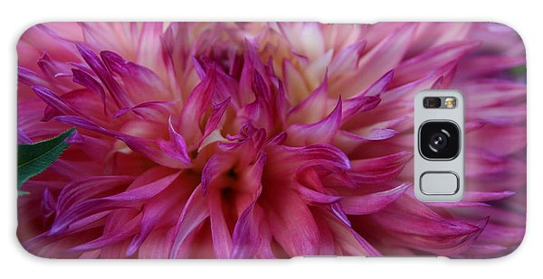 Pink And White Dahlia  Galaxy Case by Denyse Duhaime