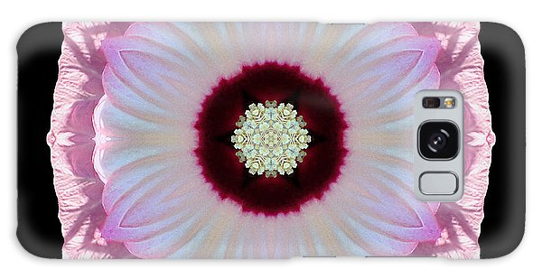 Pink And White Hibiscus Moscheutos Vii Flower Mandala Galaxy Case