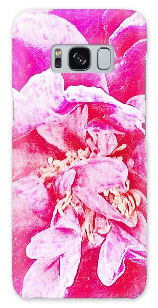 Pink And White Joy Galaxy Case by Ann Tracy