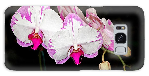 Pink And White Orchids Galaxy Case