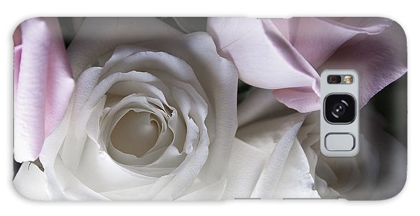 Pink And White Roses Galaxy Case by Jennifer Ancker
