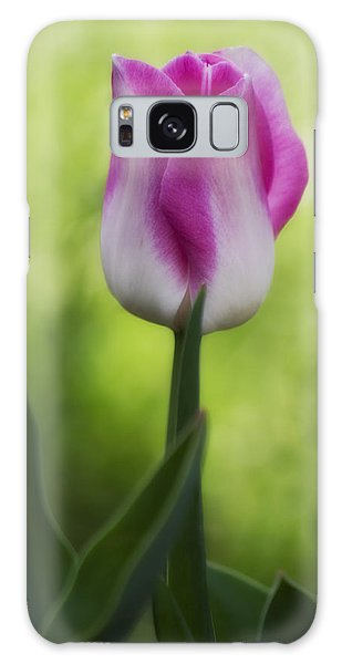 Pink And White Tulip Galaxy Case by Shelly Gunderson