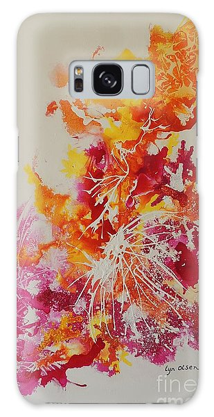 Pink And Yellow Coral Galaxy Case