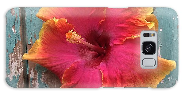 Tropical Pink And Yellow Hibiscus  Galaxy Case