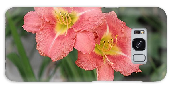 Pink Asiatic Lily Galaxy Case
