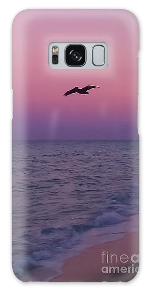 Pink Beach Sunset Galaxy Case
