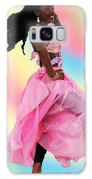 Pink Belly Dancer Galaxy Case