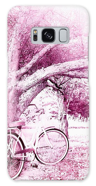 Pink Bicycle  Galaxy Case by Stephanie Frey