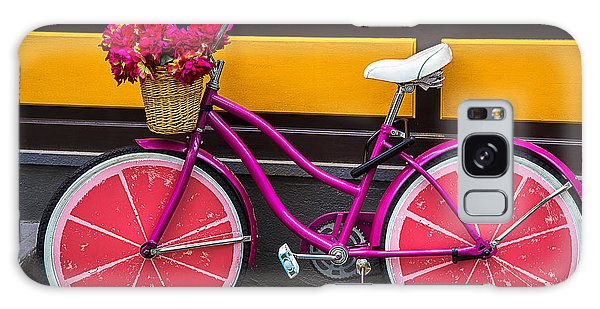 Bicycle Galaxy Case - Pink Bike by Garry Gay