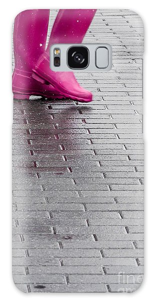 Pink Boots 1 Galaxy Case by Susan Cole Kelly Impressions