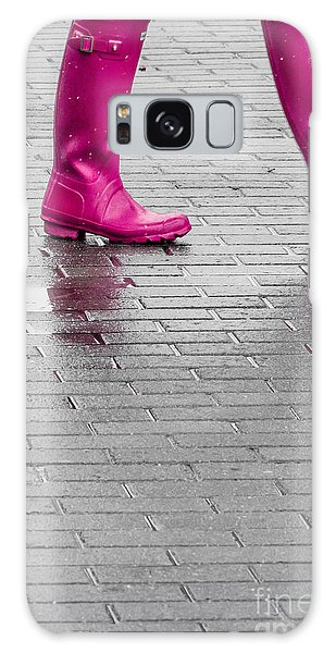 Pink Boots 2 Galaxy Case by Susan Cole Kelly Impressions