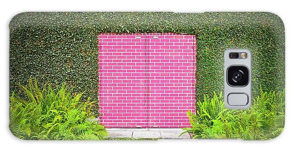 Door Galaxy Case - Pink Brick Door by David Jordan Williams