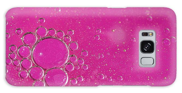 Colours Galaxy Case - Pink Bubbles by Samuel Whitton