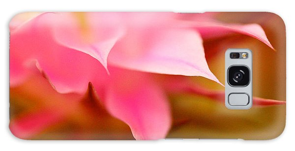 Pink Cactus Flower Abstract Galaxy Case by Michael Cinnamond