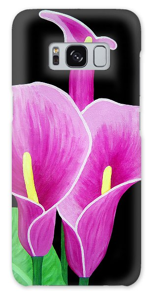 Pink Calla Lillies 2 Galaxy Case by Angelina Vick