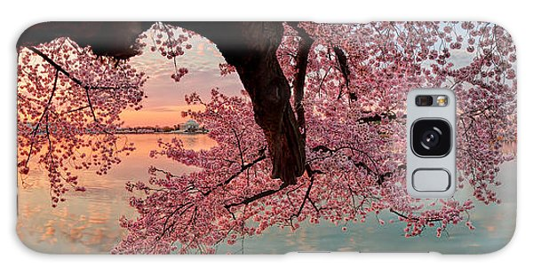 Pink Cherry Blossom Sunrise Galaxy Case