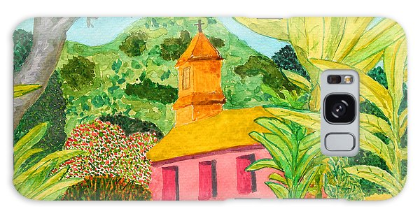 Pink Church In A Tropical Forest Galaxy Case