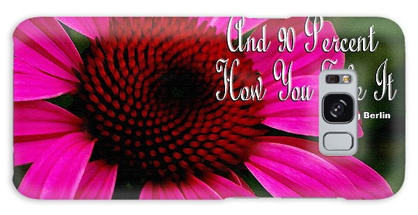 Pink Coneflower Galaxy Case