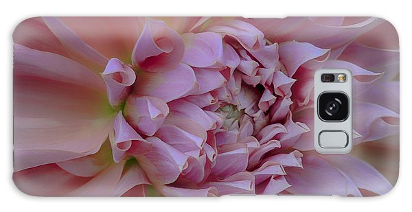 Pink Dahlia Galaxy Case by Jacqui Boonstra