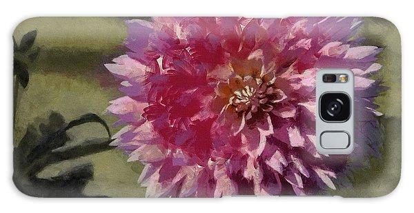 Pink Dahlia Galaxy Case by Jeff Kolker