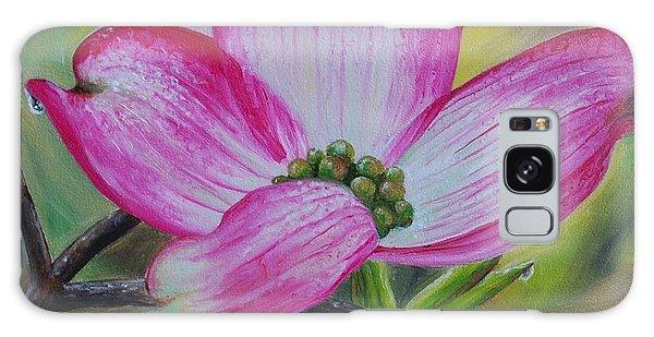 Pink Dogwood Blossom Galaxy Case