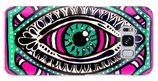 Pink Eyed Gypsi Galaxy Case