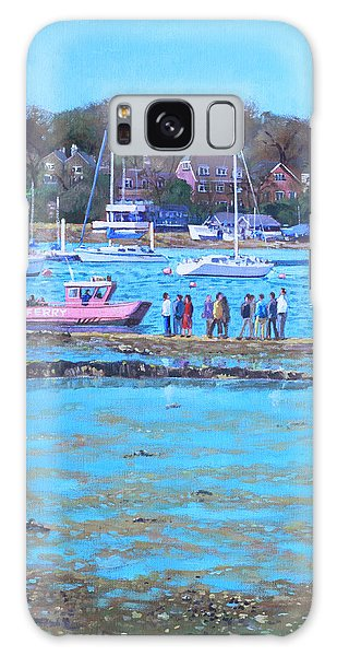 Pink Ferry On The River Hamble Galaxy Case