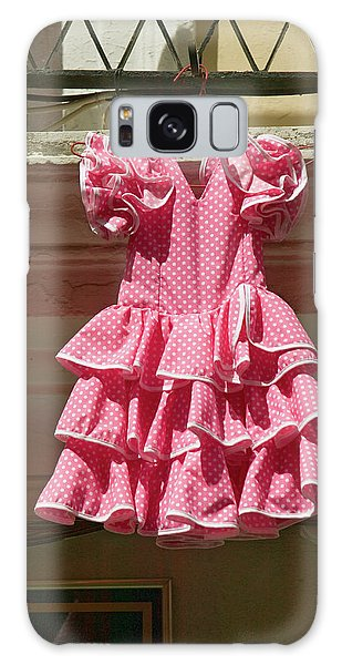 Dress Form Galaxy Case - Pink Flamenco Dress For Little Girl by Panoramic Images