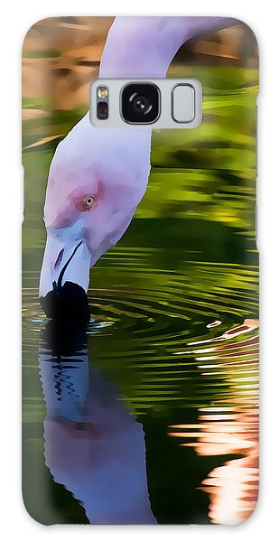 Pink Flamingo Reflection Galaxy Case