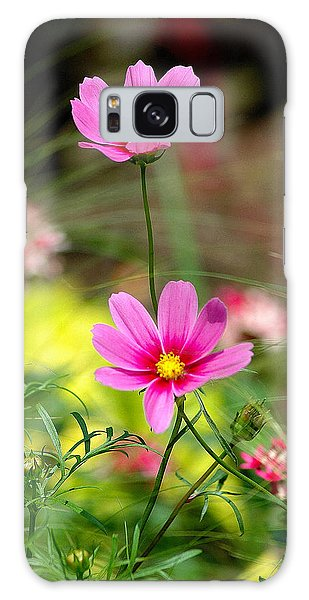 Pink Flower Galaxy Case by Ed Roberts