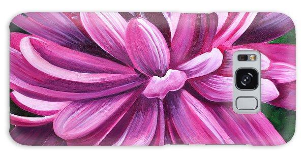 Pink Flower Fluff Galaxy Case