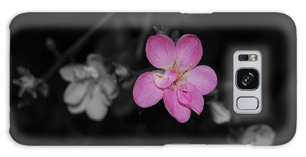 Pink Flower  Galaxy Case